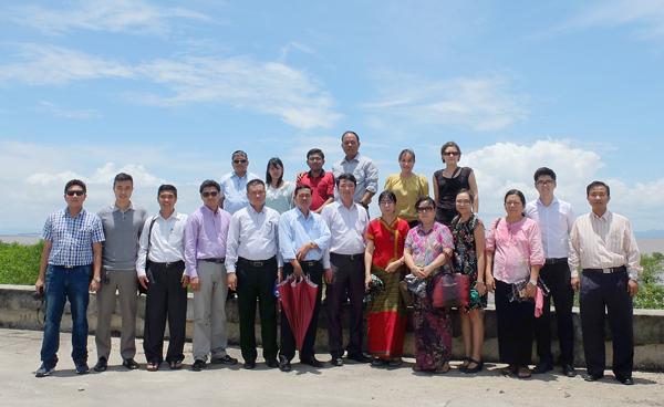Đoàn Myanmar khảo sát dự án ứng phó với biến đổi khí hậu ở Việt Nam